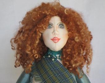OOAK Fabric Art Doll