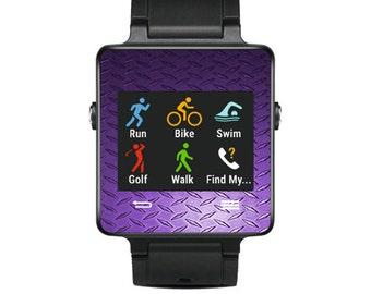 Skin Decal Wrap for Garmin Vivoactive Forerunner, Vivoactive Forerunner Hr Watch cover sticker Purple Diamond Plt