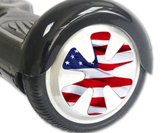 Skin Decal Wrap for Hoverboard Balance Board Scooter Wheels American Flag