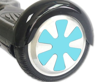 Skin Decal Wrap for Hoverboard Balance Board Scooter Wheels Solid Baby Blue