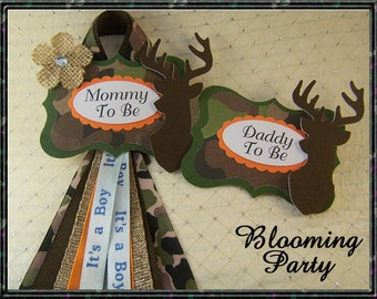 Hunting Mommy To Be And Daddy To Be Badge Or Any Name Camo Mommy To Be