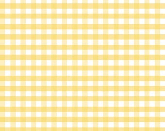 Fabric by the Yard - Fat Quarter Bundle - Quilt Fabric - Gingham Fabric - Yellow Gingham - Riley Blake Designs - Medium Gingham Yellow