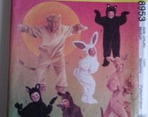 kids halloween costume / 90s / bunny / bear /cat / lion/ halloween costumes 1997 sewing pattern, Bust 34 36, Size Medium 12 14, McCalls 8953