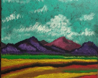 """New Mexico Landscape original 12"""" x 12"""" acrylic painting on canvas"""