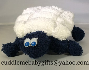 Wash cloth Baby Shower Turtle Favor Baby Gift
