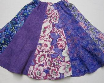 Girls Purple Cotton Twirly Skirt in Sizes 2  3  6  7  8  10  12  14  16