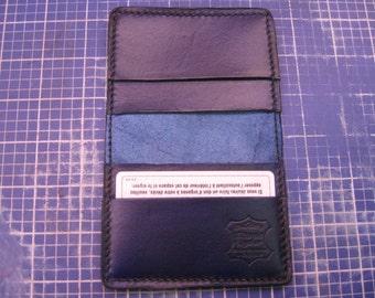 Dark Bleu Elegant Handmade Leather Business Card Holder, Credit card holder, Simple Bi-Fold Card Holder