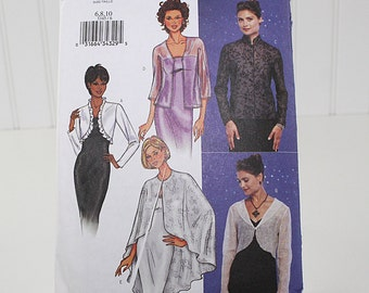 Eveing Jacket and Cape Sewing Pattern, Uncut Sewing Pattern, Butterick 3345, Size 6,8,10