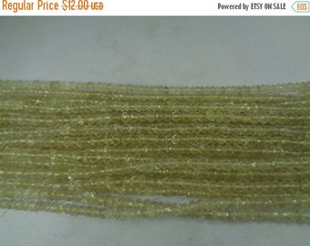 10% Off AAA Natural Lemon Quartz Faceted Beads