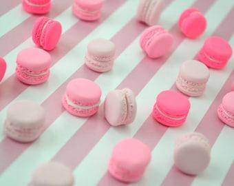15mm Pastel Pink Kawaii Macaron decoden cabochon