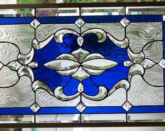 Stained Glass Window Hanging 31 X 19