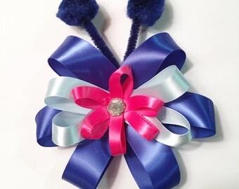Stitch Flower Hair Bow