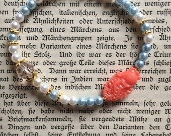 "Summer bracelet ""Seahorse"" pearl bracelet"