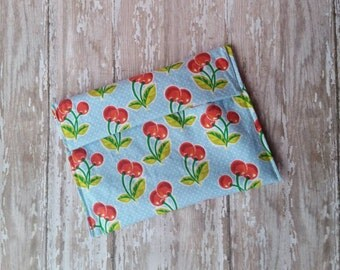 Reusable snack bag / cherry / lunch bag / snack baggie / snack sack / eco-friendly bag / cosmetic bag / medium snack bag