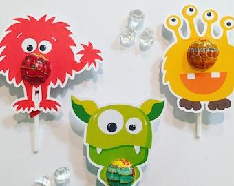 Monster lollipop holders