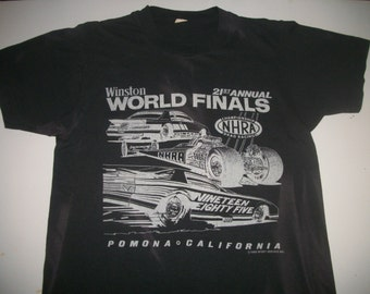 NHRA 1985 World Finals event shirt  50/50