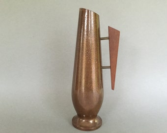 Vintage Danish Modern Copper with teakwood handle  from the 1960s.