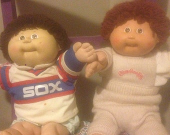 Two Vintage Cabbage Patch Kids