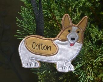 Personalized Custom Corgi Ornament