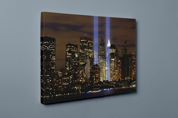 New York Night Life City Lights | Mirror Wrapped Canvas