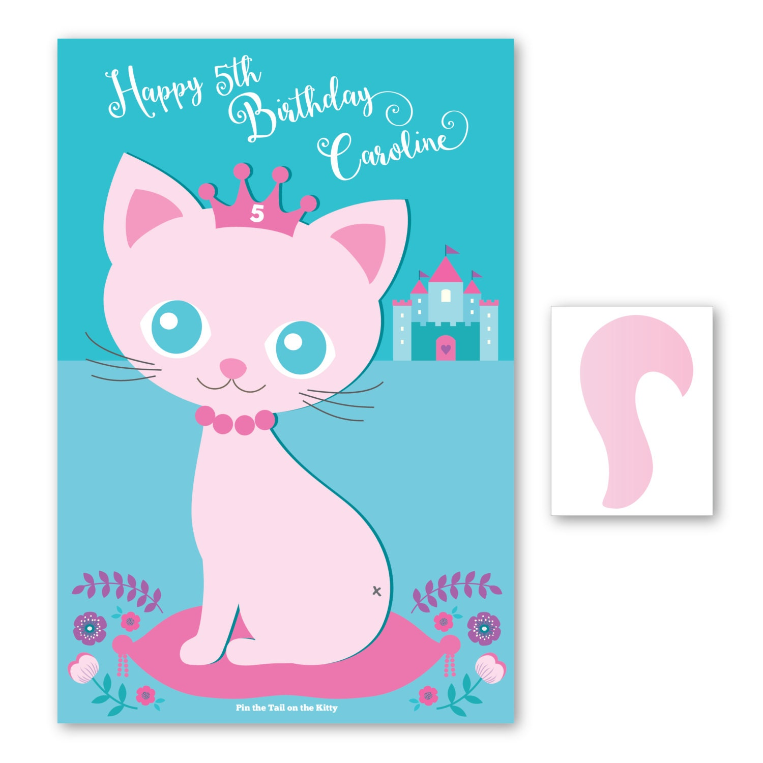 Birthday Party Games Are Hilarious For 8 9 10 11 And 12: Pin The Tail On The Kitty / Cat- Party Game