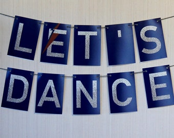 """David Bowie """"Let's Dance"""" Banner - Party, Dorm or Apartment Home Decor - Ziggy Stardust - Proceeds fund Cancer Research"""