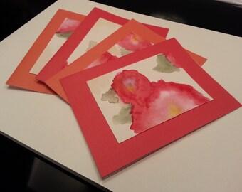 Red & Orange Poppy Cards