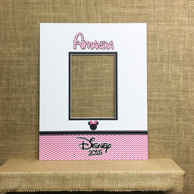 Disney Inspired Autograph Photo Mat Hot Pink Chevron Fits