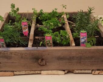 Pallet Wood Herb Garden Box