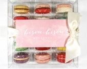 15 Assorted You Pick Edible Macarons Gift Boxed Best French Macaron Bisou Bisou