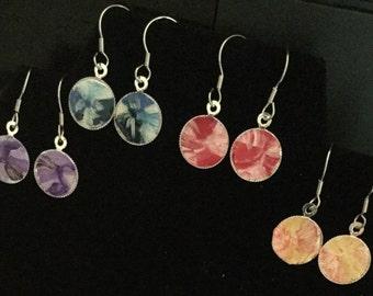 Ty-dye painted earrings