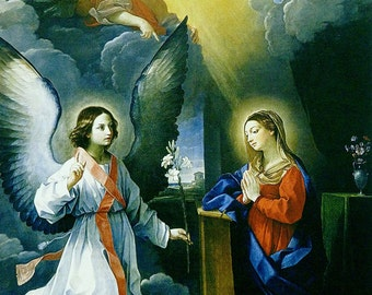 Guido Reni: The Annunciation. Fine Art Print/Poster (00153)