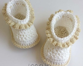 Ballerina baby booties! Crochet baby booties! Baby girl shoes! Crochet baby shoes! Baby booties!