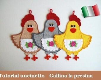 Gallina Amigurumi Uncinetto : 114IT Il tutorial a maglia Animali copri uova. di ...