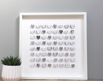 Alternative Silver Wedding Gifts : ... wedding metallic silver and grey 64 hearts medium size wedding gift