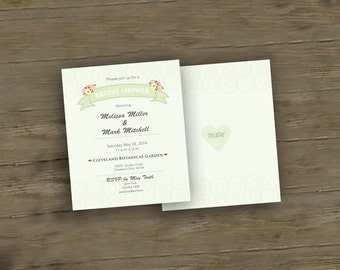 Garden Themed Bridal Shower Invitation