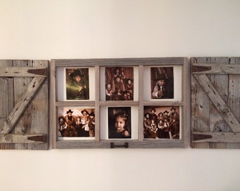 rustic window frame like picture box 6 pane