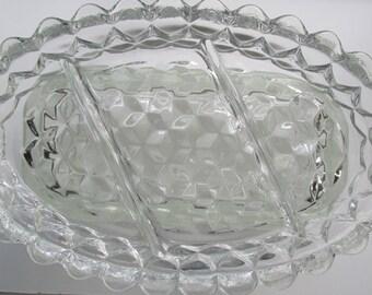 American Pattern Fostoria Relish Dish