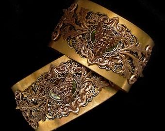 Mythological Bracelets God of Wind Zephyrus Ancient Greek Divinity Jewellery Wiccan Pagan Mythical Magic Bronze Green Olive