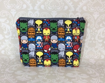 Marvel Kawaii Zippered Bag