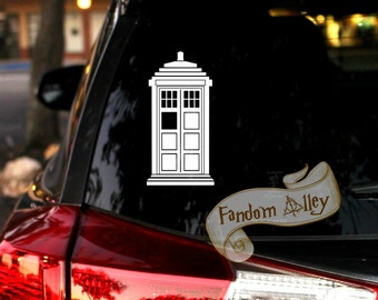 Tardis Decal -- Doctor Who Decal -- [Tags: T.A.R.D.I.S. Whovian Doc Who Police Public Call Box]