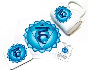 Throat Chakra Products   Mugs, Mouse Pads, Coasters, Pendants