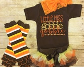 Newborn Thanksgiving Outfit, Baby Girl Thanksgiving outfit,  Fall Outfit, Turkey Outfit, Thanksgiving Baby Outfit, Gobble Gobble Outfit