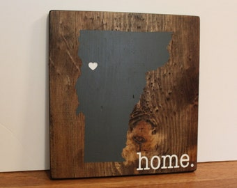Vermont Wood Sign, State Sign, Custom Wood Sign, Pallet Sign, Personalized Wood Sign, home decor, wall art, moving gift