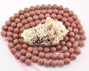 15.5 Inch Full Strand  Pink  Rhodonite  8mm  Round  Bead