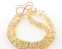 September Sale 1 Long AAA Strand Citrine Smooth Rondelles - Citrine  Rondelle Beads 7mm-14mm 19 Inches SB246