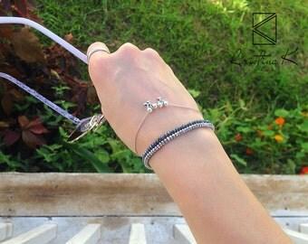 Silver Grey Hematite Bracelet   Sterling Silver   Beads Bracelet, Hematite Bracelet, Hematite Jewelry, Silver Bracelet, valentine's day gift