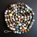 Set of 20 ceramic, archaic beads, goods for needlework