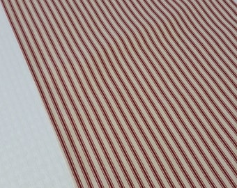 Table Runner, Red stripe table runner, Valentine  table runner, red ticking table runner, stripe table runner, red table runner
