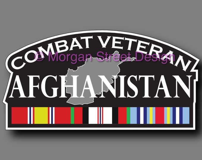 Afghanistan Combat Veteran Die Cut Vinyl Decal Sticker